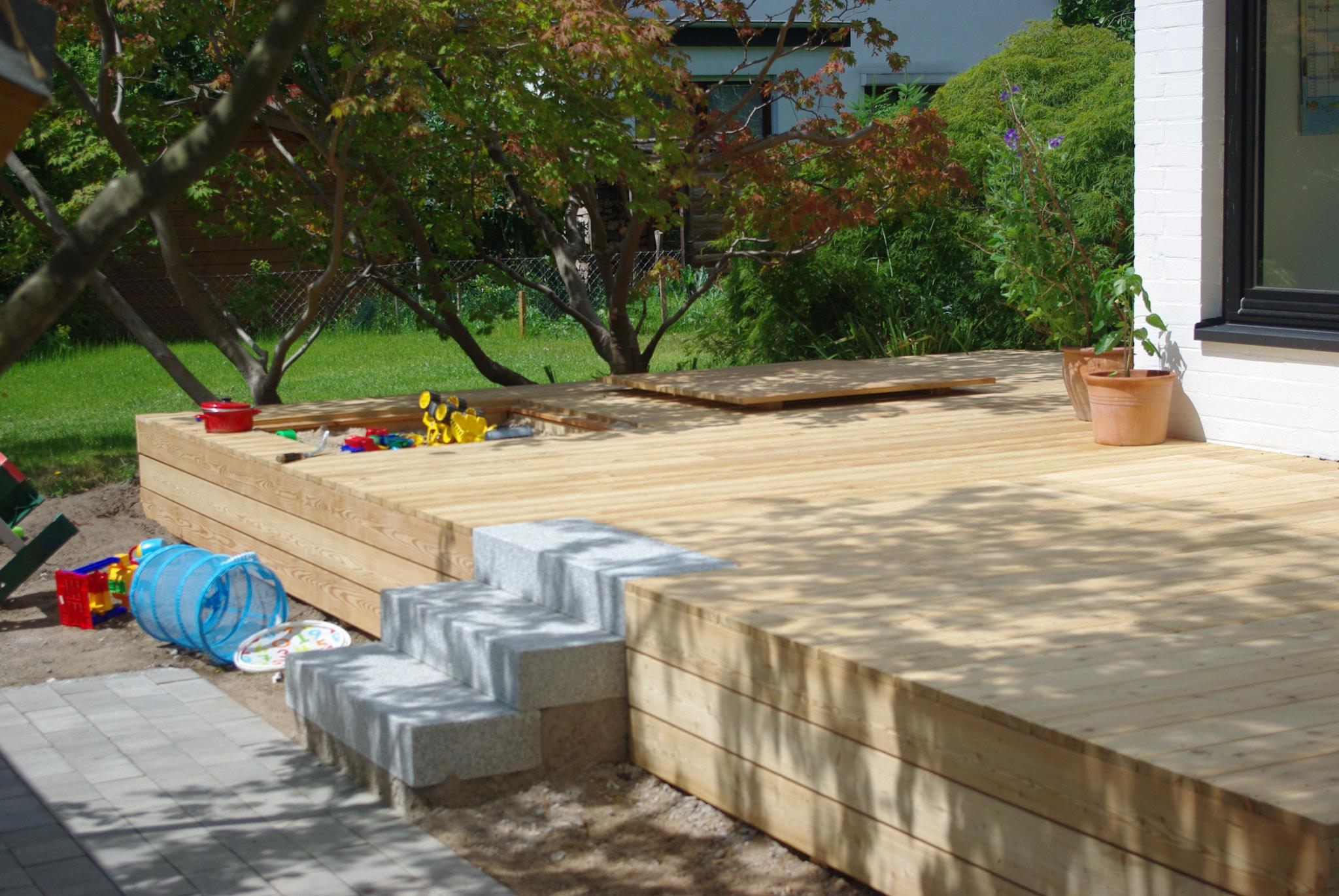 holz terrasse, holzterrasse bauen und pflegen - ein beispiel aus lübeck, Design ideen